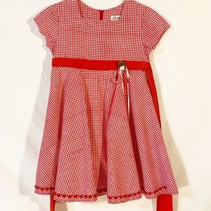 Speechless Girls Dress Red/White Gingham Size 5